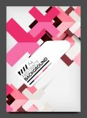 Flyer design template, business web layout — Stock Vector