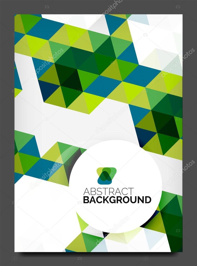 海报模板.现代商业几何抽象背景– 图库插图