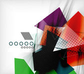Color triangles, unusual abstract background — Stockvector