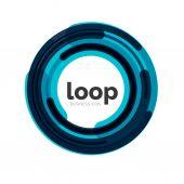 Loop, icona di affari di infinito — Vettoriale Stock