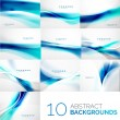 Set of business flowing waves — Stock Vector #58651161