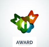 Colorful award business logo — ストックベクタ