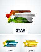 Abstract colorful logo design — Stock Vector