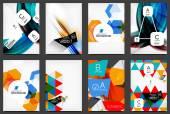 Set of modern flyers, brochures — Stockvector