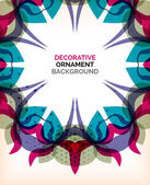 Decorative retro ornaments background — Stockvektor