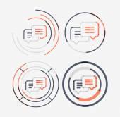 Thin line neat design logo set, messages concept — Stock Vector