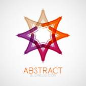 Symmetric abstract geometric shape — Stock Vector