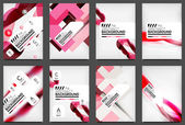 Set of Flyer Templates, Business Web Layouts — Stock Vector