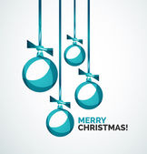 Merry Christmas modern card - abstract baubles — 图库矢量图片