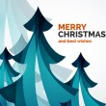 Christmas tree geometric design — Stock Vector #59405445