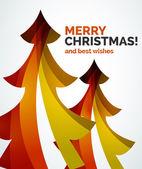 Christmas tree geometric design — Stockvektor