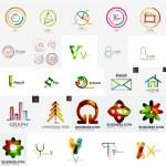 Set of branding company logo elements — Stock Vector #59565413