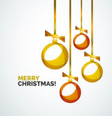 Merry Christmas modern card - abstract baubles — ストックベクタ