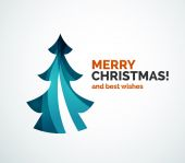 Christmas tree geometric design — Stock Vector