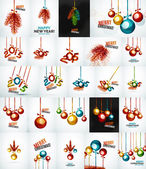 Set of Christmas baubles, New Year Concepts — Stock Vector