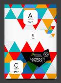 Abstract modern flyer - brochure template — Stock Vector