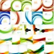 Set of vector blurred wave abstract backgrounds — Stock Vector #59932917