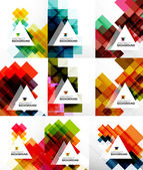 Satz von Quadrat abstrakt — Stockvektor