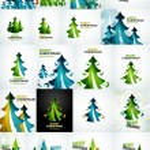 Christmas tree geometric design — Stock Vector #59957063