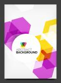 Abstract modern flyer - brochure template — Stock Vector