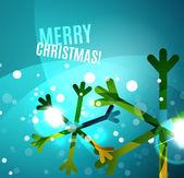 多彩闪亮的闪亮的圣诞卡片 — 图库矢量图片