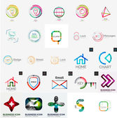 Collection of abstract universal logos — Stock Vector