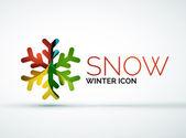Christmas snowflake company logo design — Vector de stock
