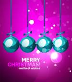 Colorful bright shiny Chrismas card — Stock Vector