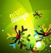 Colorful bright shiny Chrismas card — Vetorial Stock
