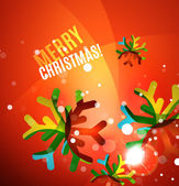 Colorful bright shiny Chrismas card — ストックベクタ