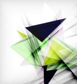 Triângulos de cor, incomum abstrato — Vetor de Stock