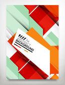 Dépliant, modèle de conception de brochure — Vecteur