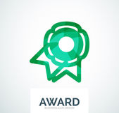 Colorful award business logo — Stock Vector
