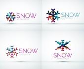 Christmas snowflake company logo design — Stockvector