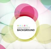 Colorful circles modern abstract composition — Vecteur