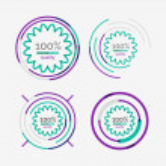 Thin line neat design logo set, premium quality — Stock Vector #61438147
