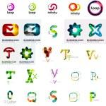 Set of various universal company logos — Stock Vector #61596395
