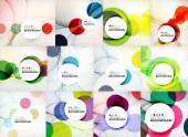 Set of circle abstract backgrounds. — Stock Vector