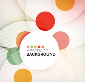 Colorful circles modern abstract composition — Stock Vector