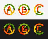 Minimal line design logo set — Stock Vector