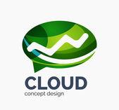 Modern cloud logo — Stock Vector