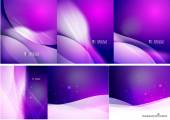 Set of abstract shining backgrounds — Stockvektor
