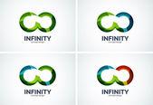 Infinity company logo icon set — Stock Vector