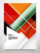 Flyer, Brochure Design Template — Stock Vector