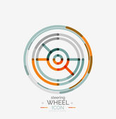 Car steering wheel icon — Stock Vector