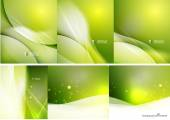 Set of abstract shining backgrounds — Stock Vector