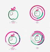 Apple logo concept, stamp — Stock Vector