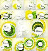Color circles backgrounds set — Vecteur