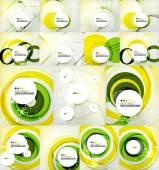 Color circles backgrounds set — Stockvektor