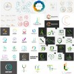 Set of various universal company logos — Stock Vector #62978559